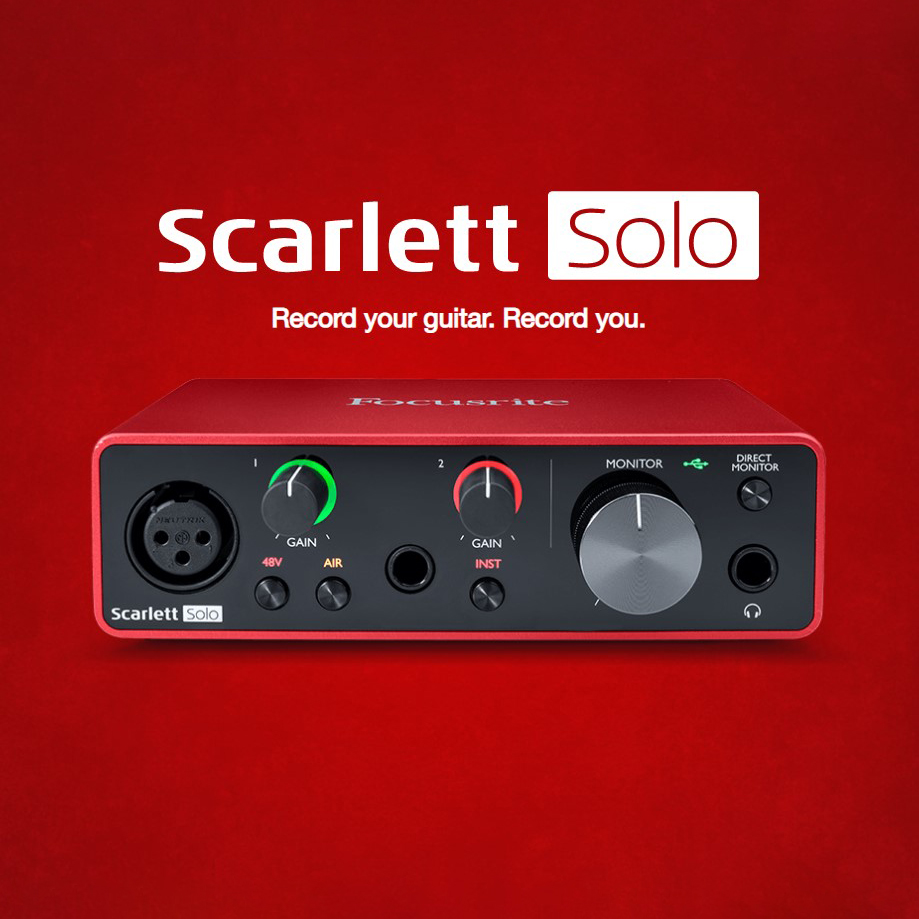 Focusrite Scarlett Solo (3rd Generation) Interface Sound Card