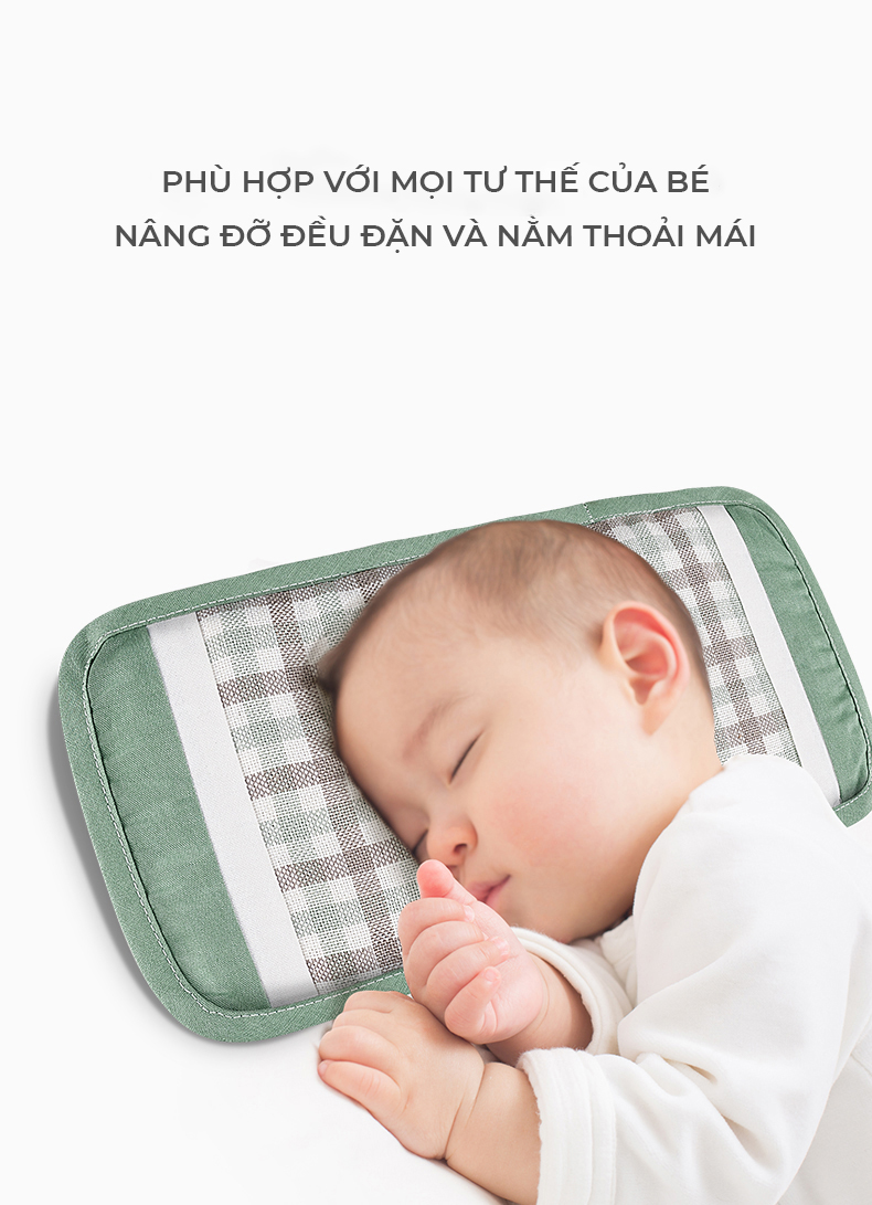 Gối chống bẹp đầu cho bé sơ sinh BC5279