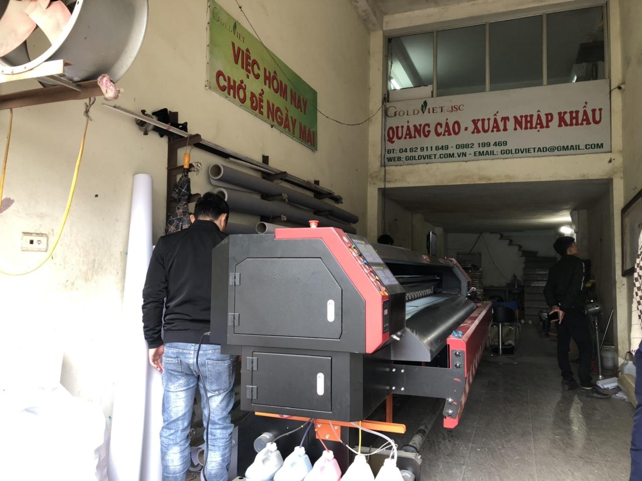 Lắp đặt máy in bạt khổ lớn 3m2 Taimes T5S cho công ty Gold Việt tại Châu Văn Liêm - Hà Nội