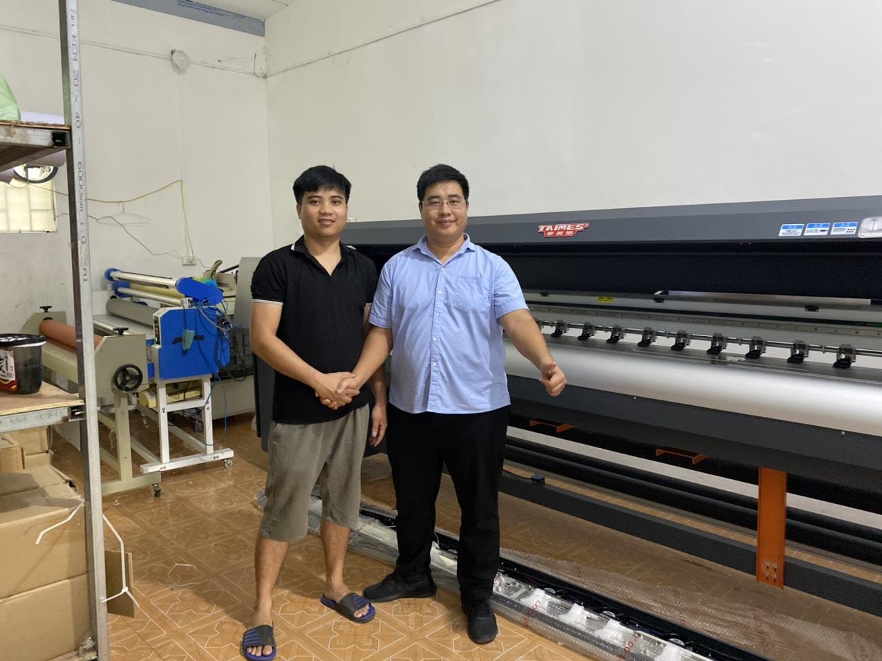 Bàn giao công nghệ máy in bạt khổ 3m2 Taimes T5Q cho Công ty TNHH MTV Luxer Việt Nam tại Trần Hưng Đạo