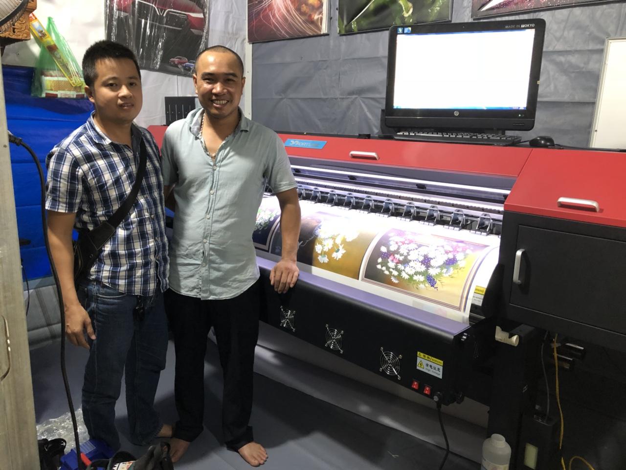 Bàn giao công nghệ máy in hifi, máy cắt CNC cho quảng cáo An Việt tại Đặng Xuân Bảng - Hà Nội