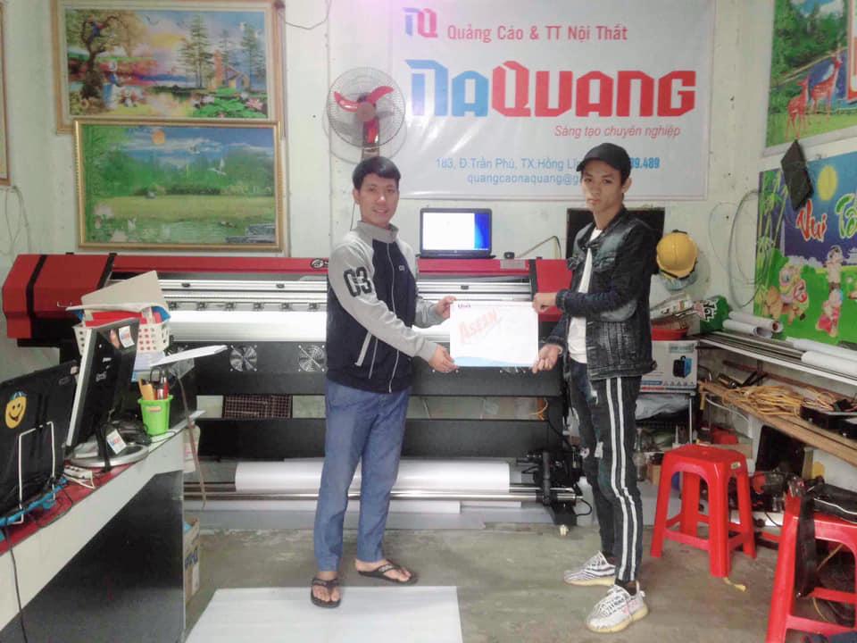 Bàn giao công nghệ máy in hifi cho quảng cáo & nội thất Na Quang tại Hồng Lĩnh - Hà Tĩnh