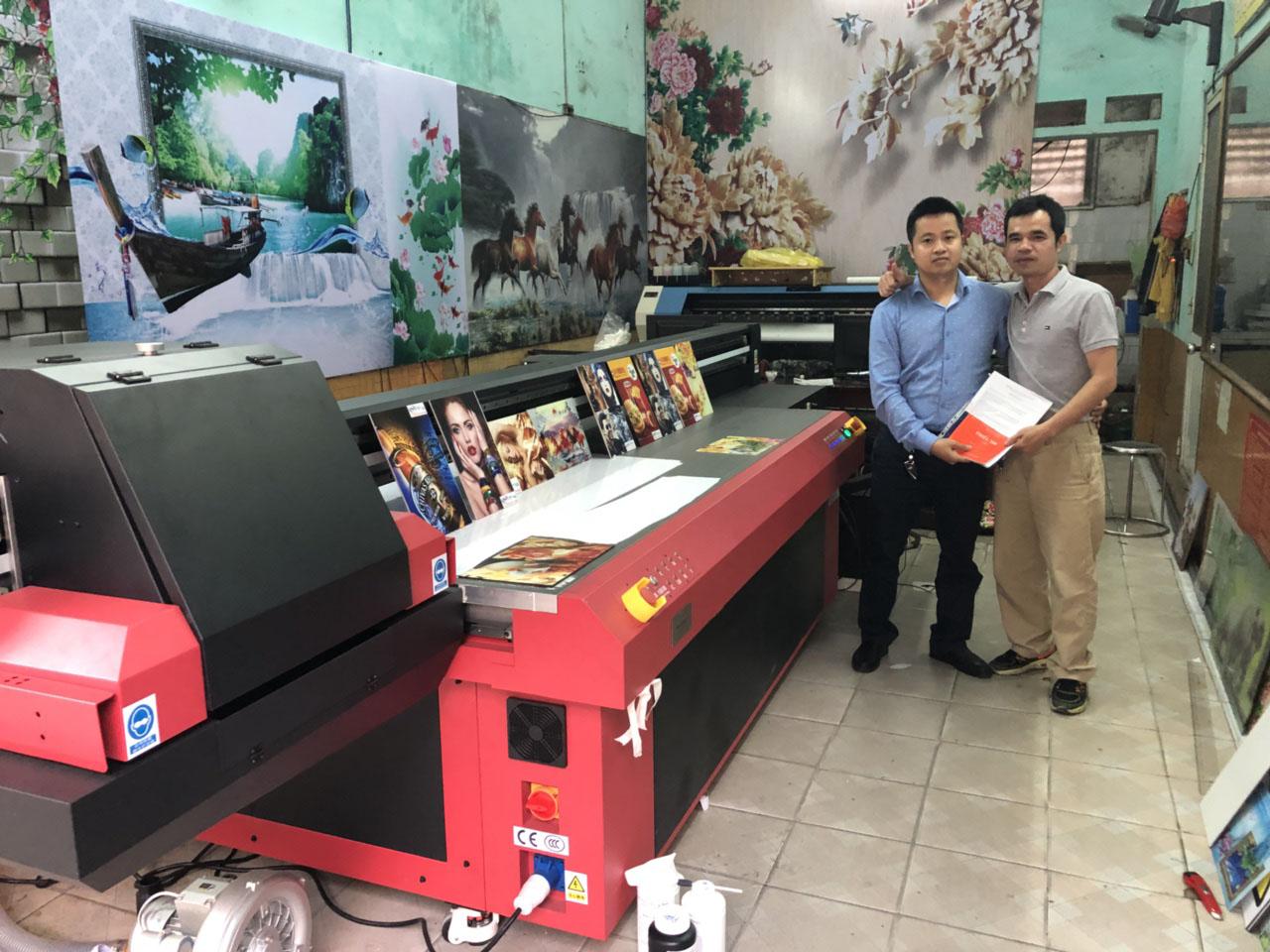 Bàn giao công nghệ máy in uv phẳng khổ 2513 cho Quảng cáo Phong Cách Việt tại TP Hải Dương - Hải Dương