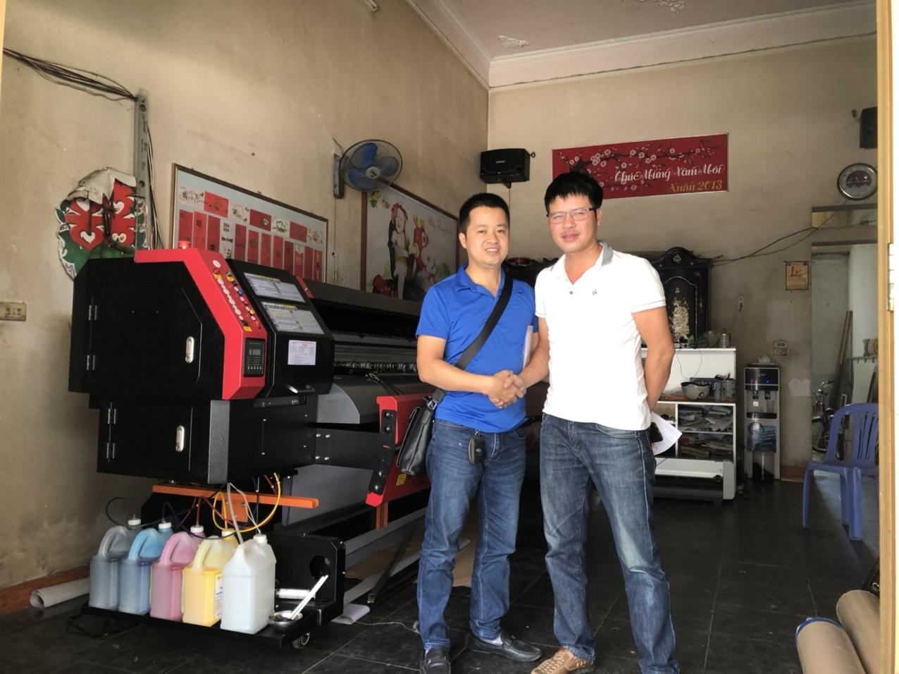 Lắp đặt máy in bạt khổ lớn 3m2 Taimes T5 cho anh Nam tại Nghĩa Lộ - Yên Bái
