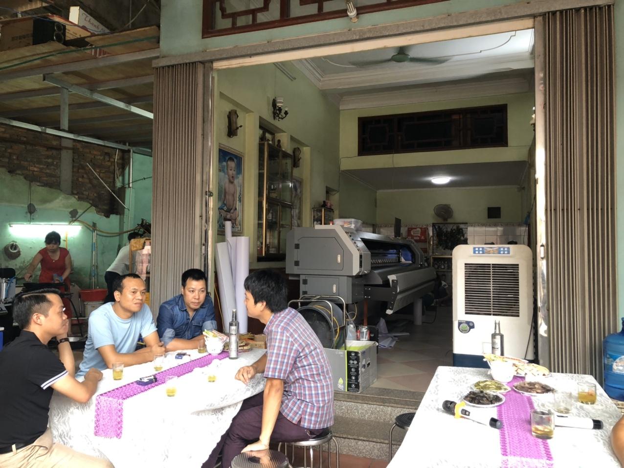 Lắp đặt máy in bạt Taimes T5S cho Công ty TNHH quảng cáo và dịch vụ thương mại Hải Nam tại Giáp Hải