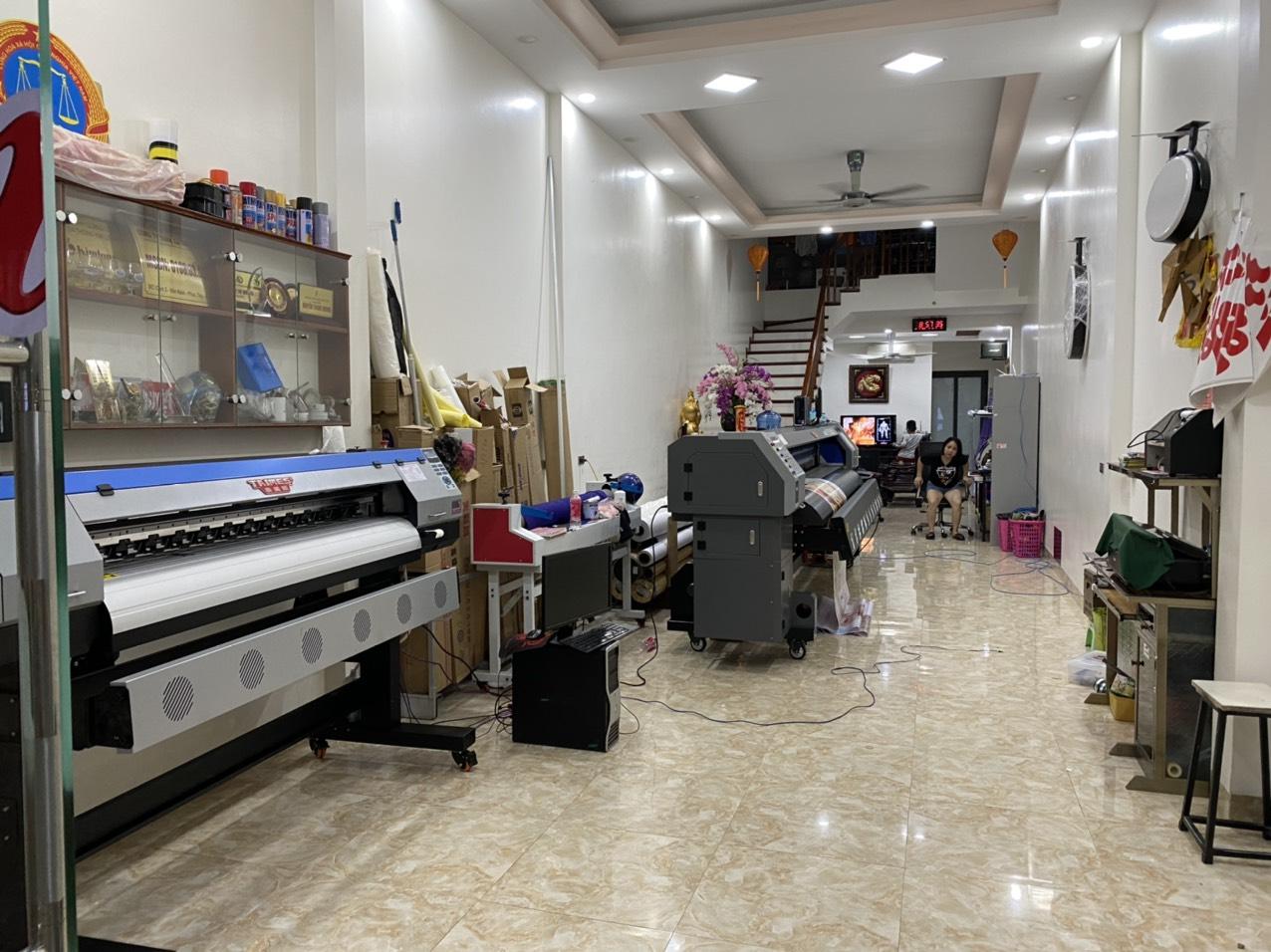 Lắp đặt máy in bạt khổ lớn 3m2 Taimes T5S, máy in decal Taimes T1601 cho Quảng cáo Tuấn Hương tại Hà Nội