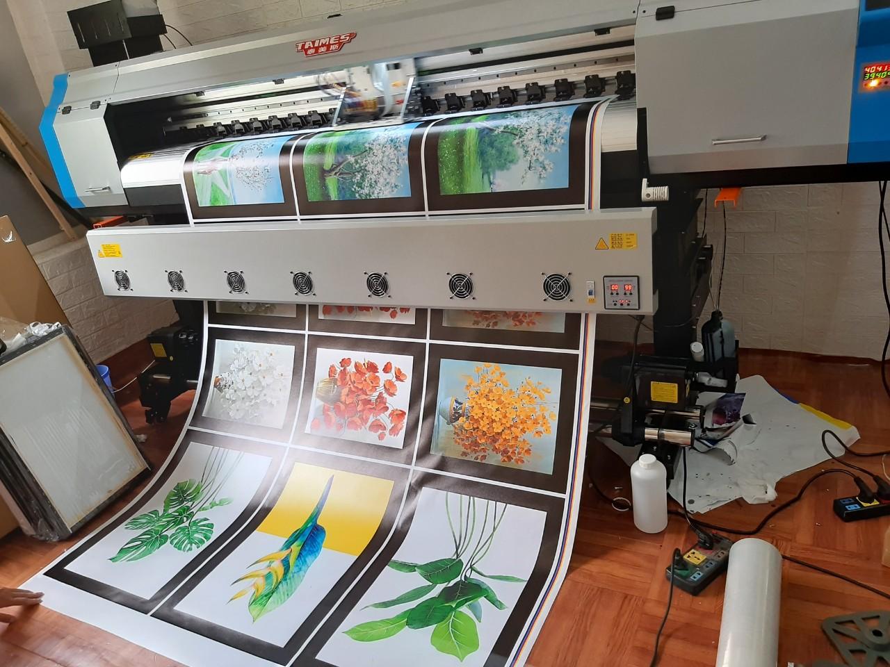 Lắp đặt máy in hifi Taimes T1601 cho anh Trường in tranh canvas tại Tân Triều - Hà Nội