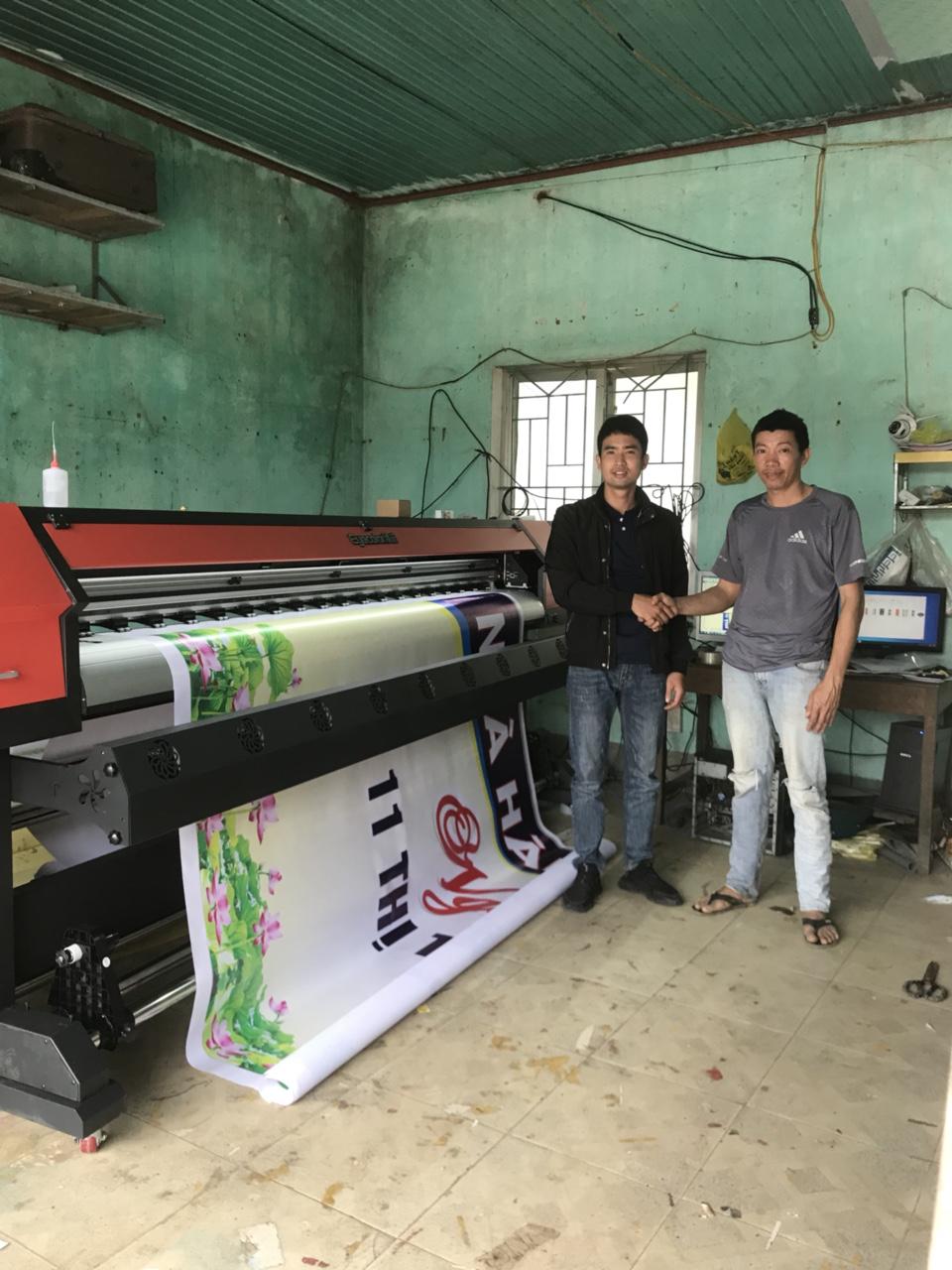 Bàn giao công nghệ máy in Eyecolor khổ 2m5 cho Quảng cáo Vũ Quang