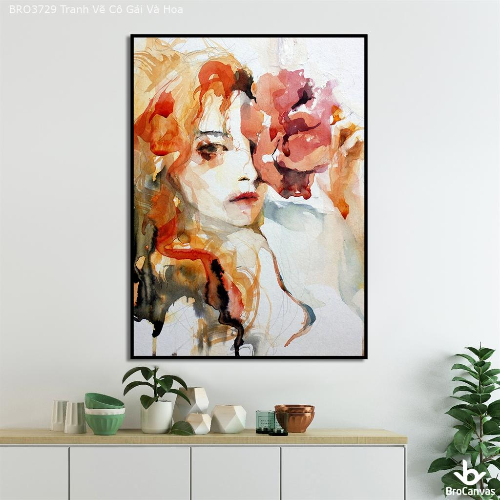 Tranh Vẽ Cô Gái