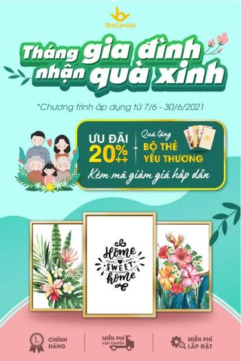 Tháng Gia Đình Việt Nam Với Tranh Canvas Treo Tường