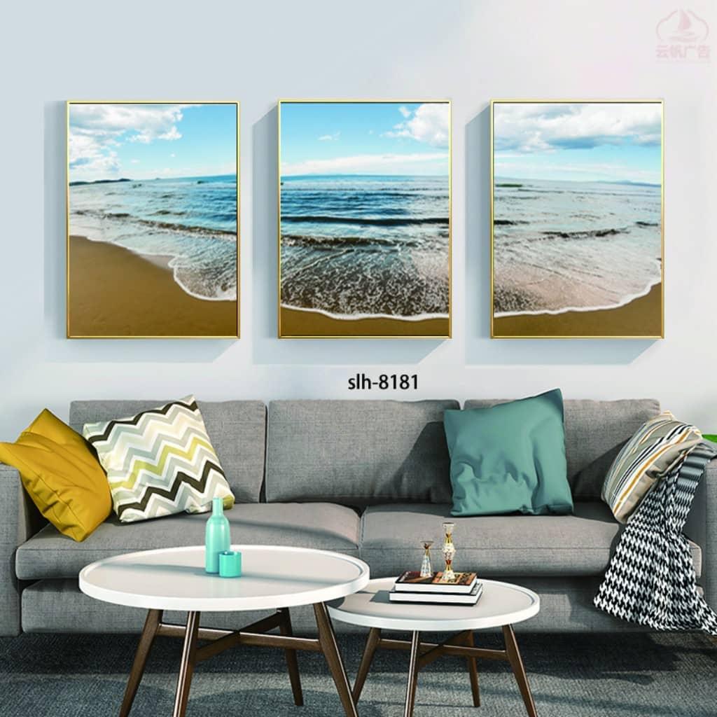 Bộ tranh phong cảnh biển sóng sô bờ cát