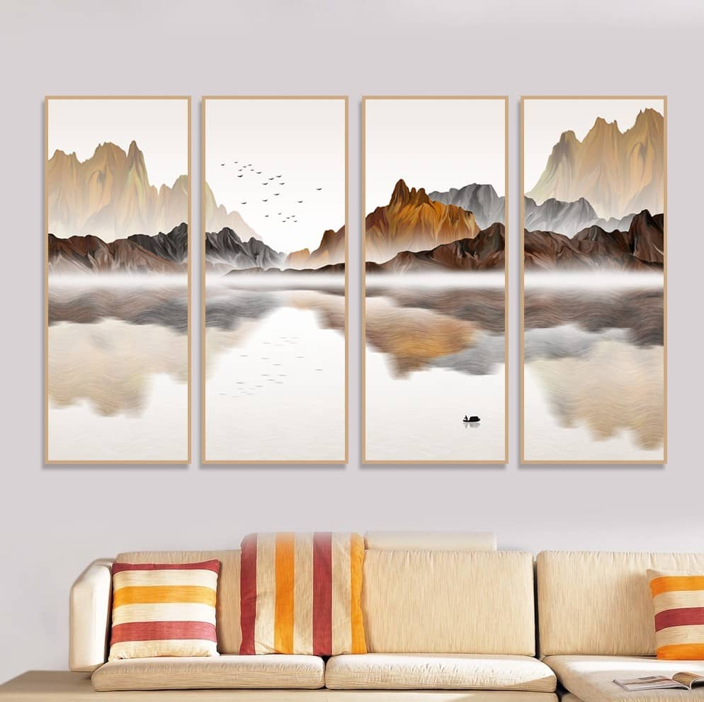Bộ 4 tranh canvas uy tín tại Ninh Thuận