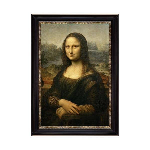 Bức tranh sơn dầu Mona Lisa được vẽ trên nền vải canvas