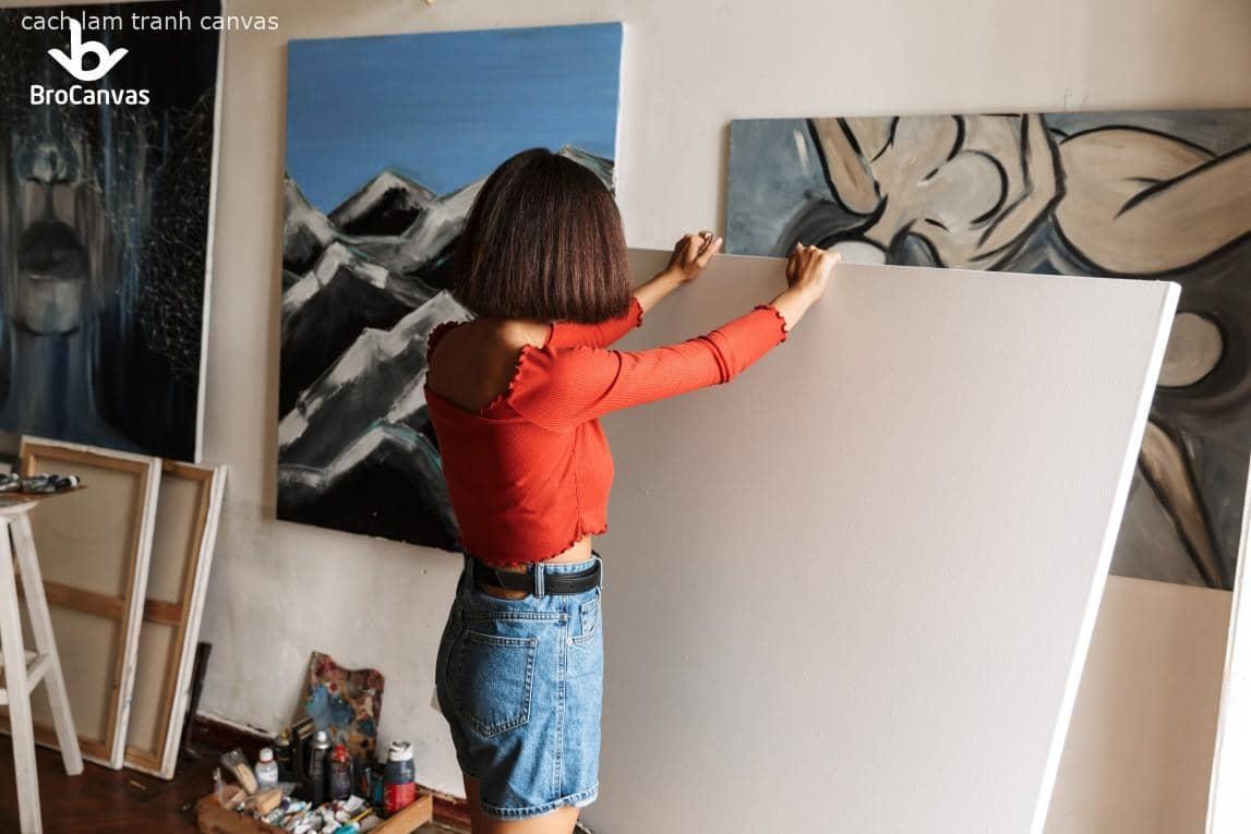 Hướng dẫn cách làm tranh canvas cho các bạn tham khảo