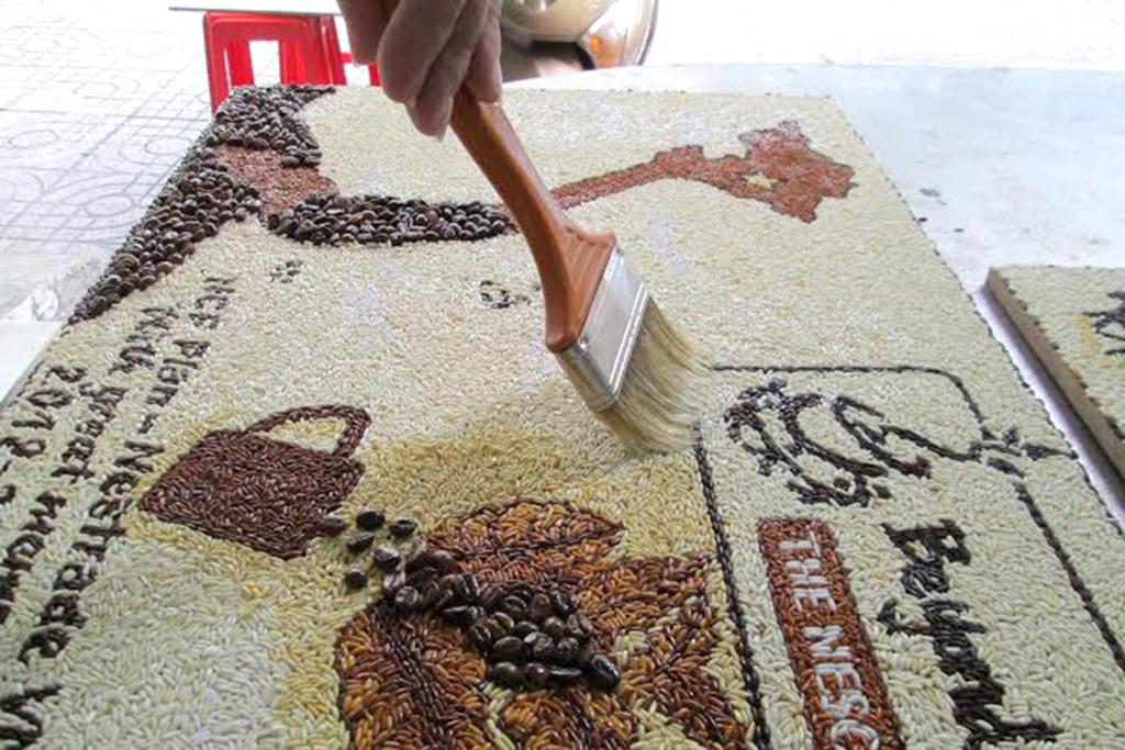 Tranh gạo - Dòng tranh mang đậm ý nghĩa dân tộc Việt Nam