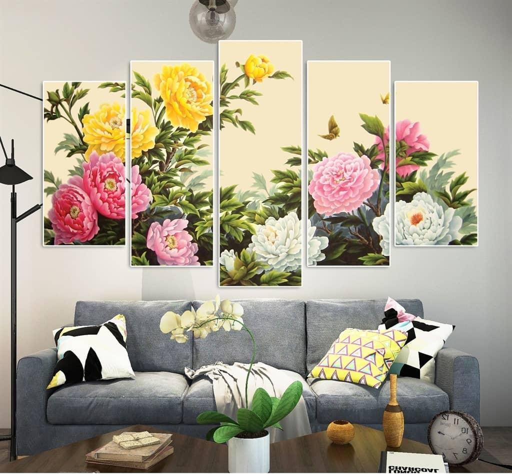 Bức tranh hoa mẫu đơn phù hợp với gia chủ tuổi Tuất nó mang đến nhiều may mắn cho họ