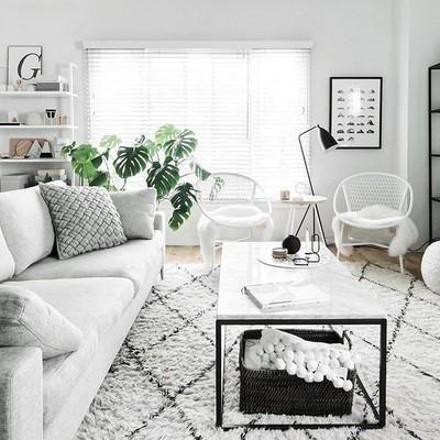 Màu trắng luôn là gam màu chủ đạo trong thiết kế theo phong cách Scandinavian