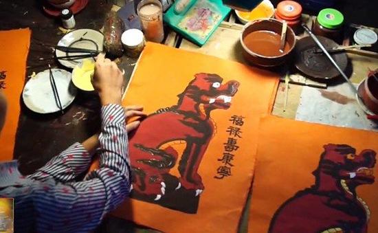 Màu tranh Kim Hoàng đậm, phong phú với nét khỏe khoắn