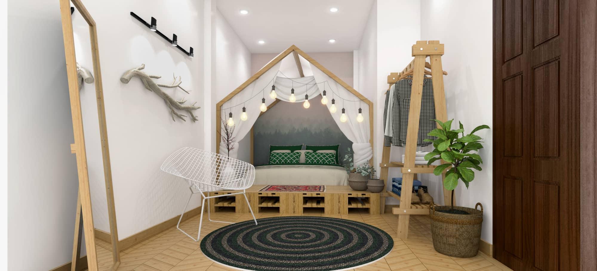 Phòng ngủ homestay dành cho cặp đôi phải có sự riêng tư, lãng mạn