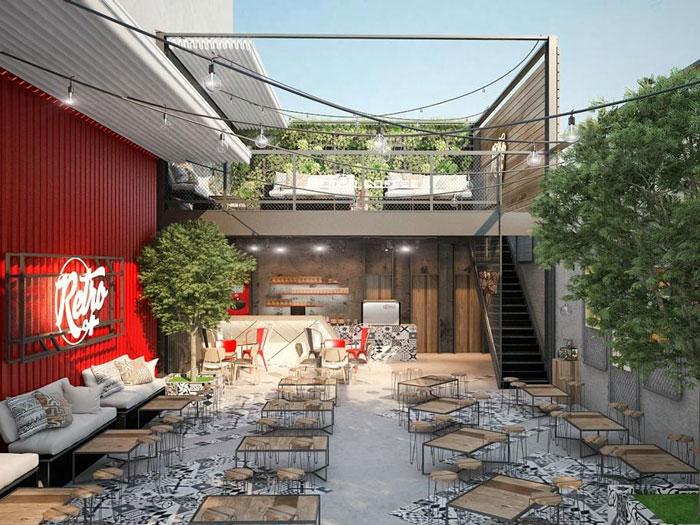Quán cafe tầng 2 chỉ cần thiết kế đơn giản không cần cầu kỳ cũng đủ để thu hút khách hàng