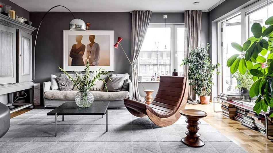 Thiết kế bằng gỗ, đá và lông là yếu tố làm nên phong cách Scandinavian