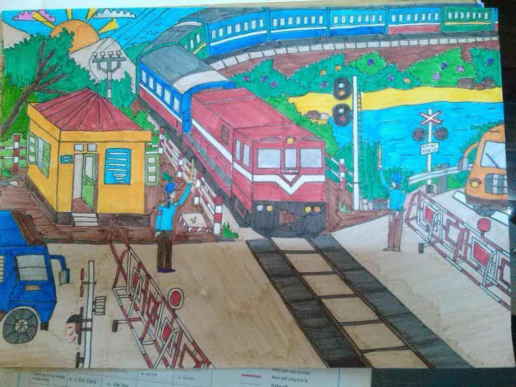 Bạn có thể lựa chọn chủ đề an toàn giao thông đường sắt