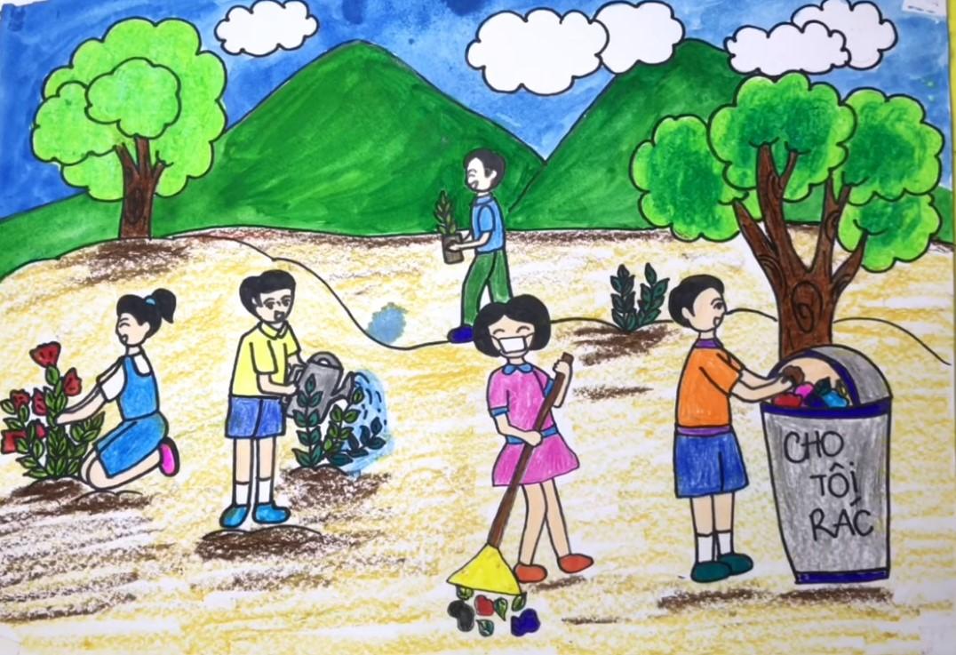 Tranh Bảo Vệ Môi Trường Hành Tinh Xanh