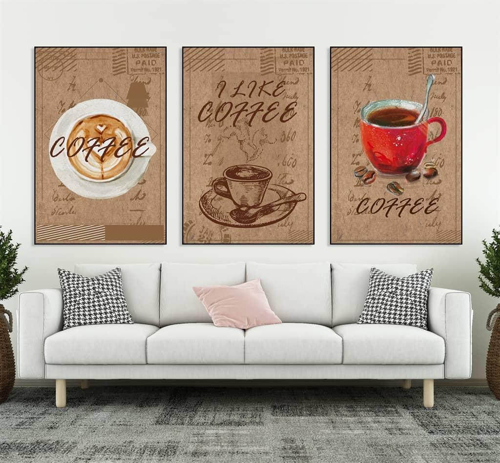 Tranh canvas về cafe tạo nên vẻ sang trọng, tinh tế