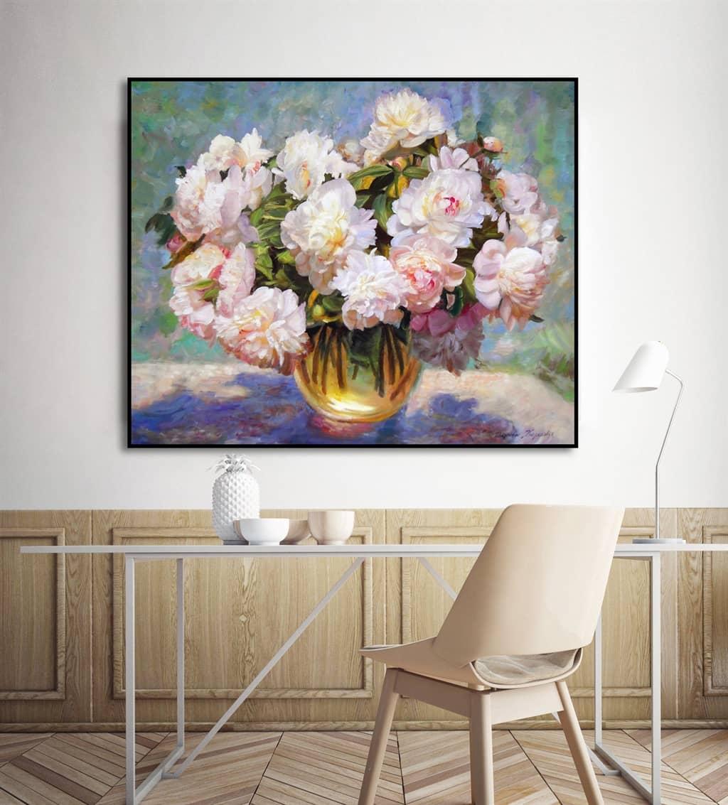 Tranh hoa - sự lựa chọn hoàn hảo cho không gian phòng ngủ