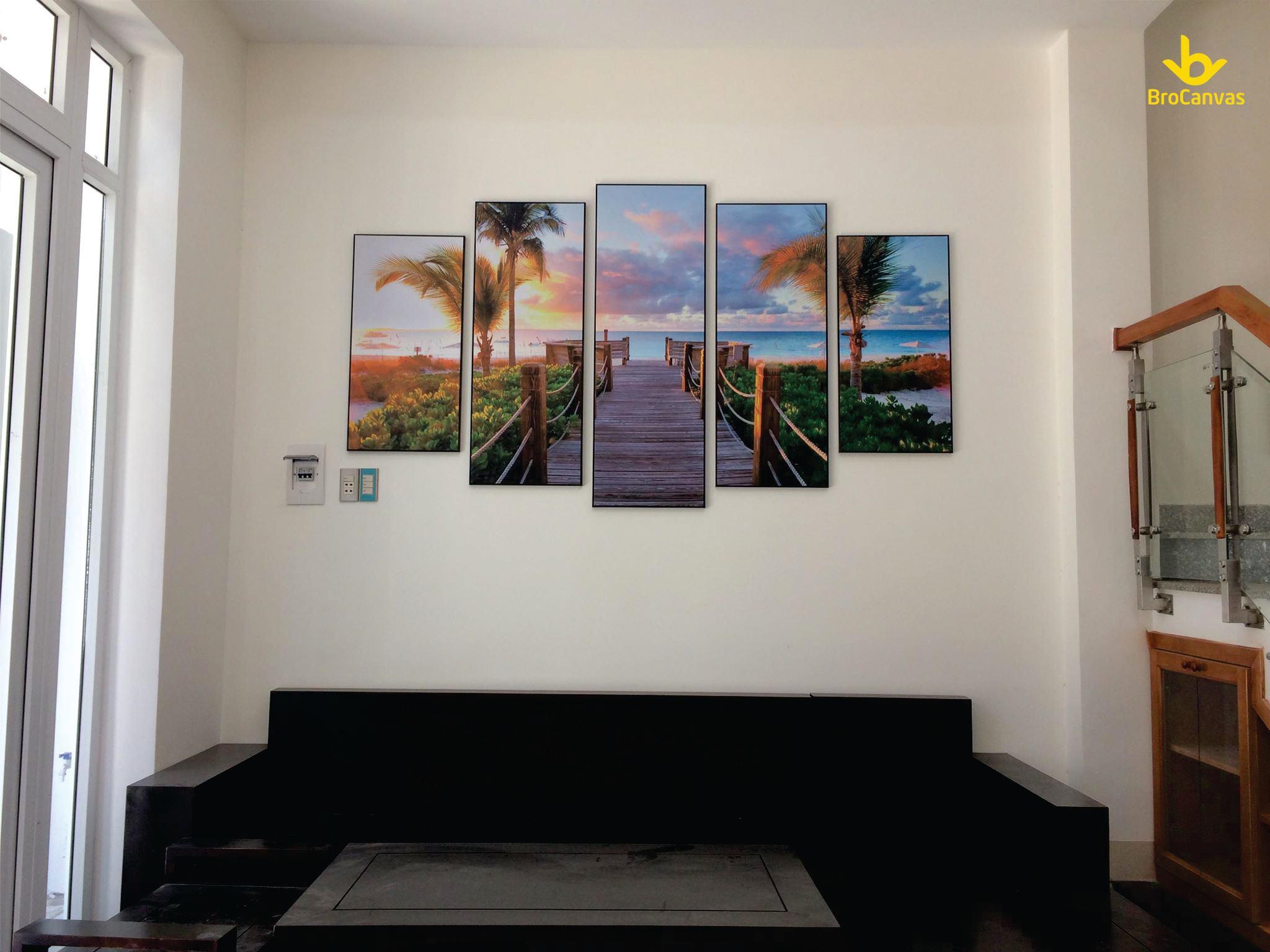 Hướng dẫn cách decor phòng khách cho mọi nhà bằng tranh canvas