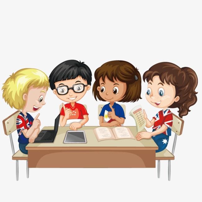 Tranh vẽ đề tại học tập và làm việc nhóm