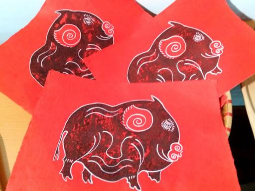 Tranh lợn Kim Hoàng rất được ưa chuộng