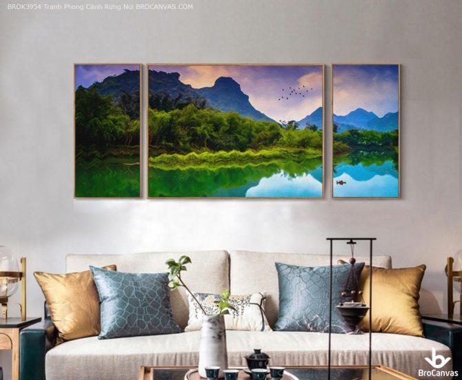 Tranh Phong Cảnh Rừng Núi