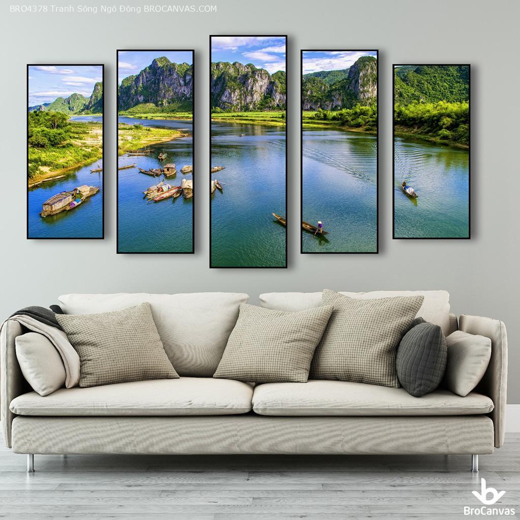 tranh phong cảnh sông ngô đồng