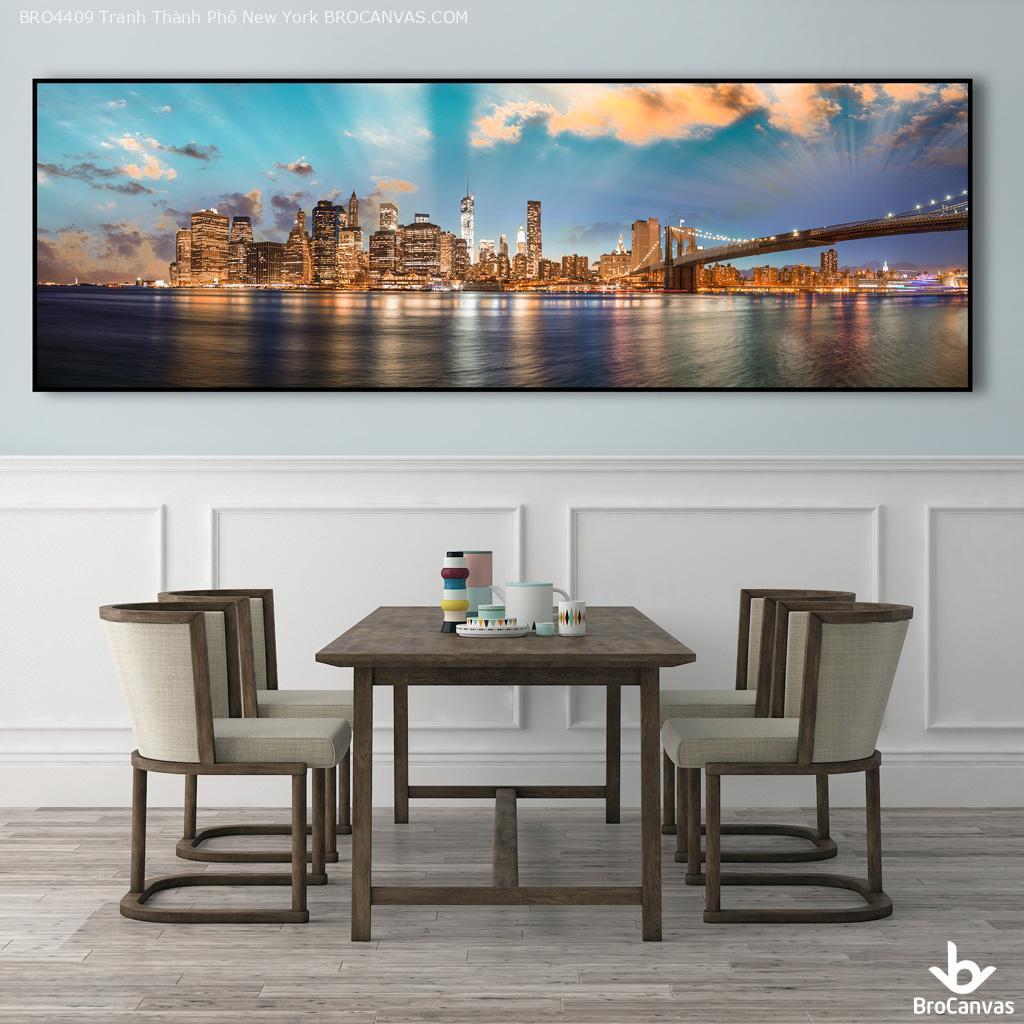 tranh phong cảnh thành phố new york