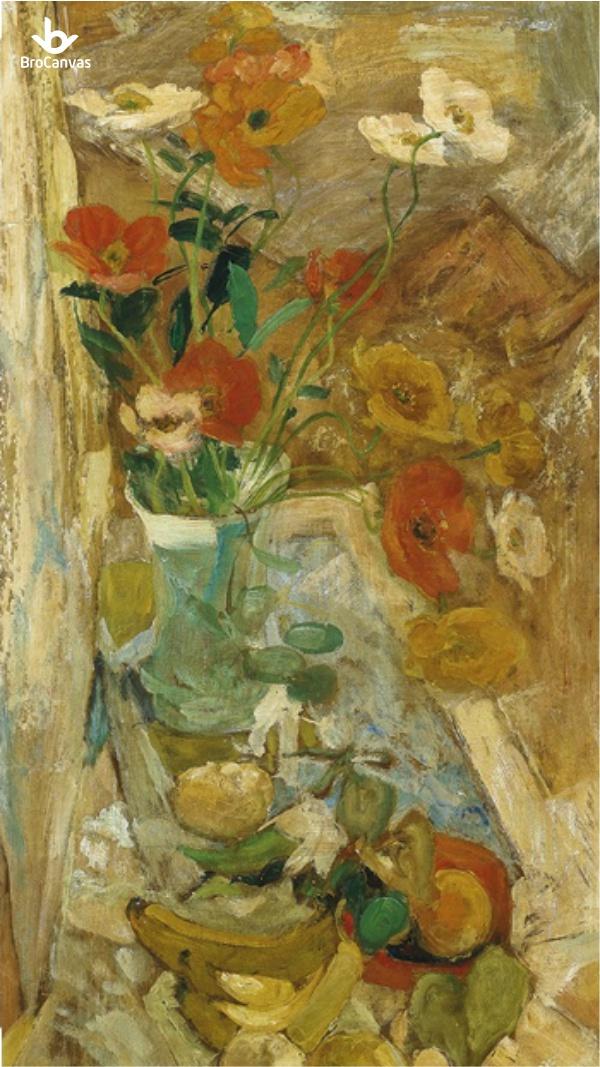 Một bức tranh khác với chủ đề Tĩnh Vật và Hoa của họa sĩ được bán với giá 933 triệu đồng