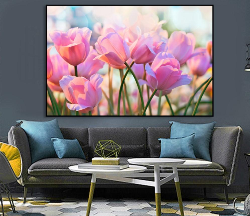 Tranh hoa tulip được chọn là tranh ưa chuộng nhất