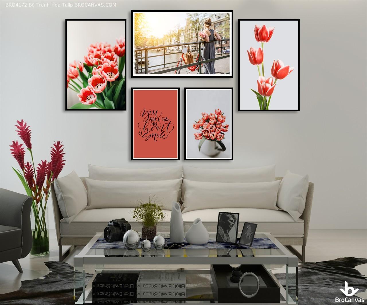 Bộ Tranh Hoa Tulip