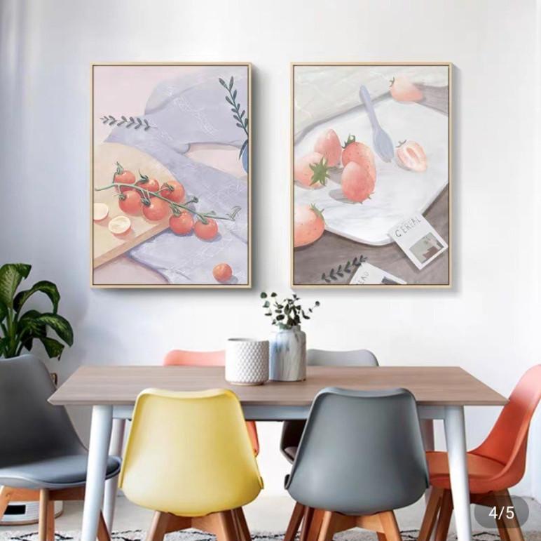 Tranh Hoa Quả Vẽ Tay Treo Tường phòng ăn