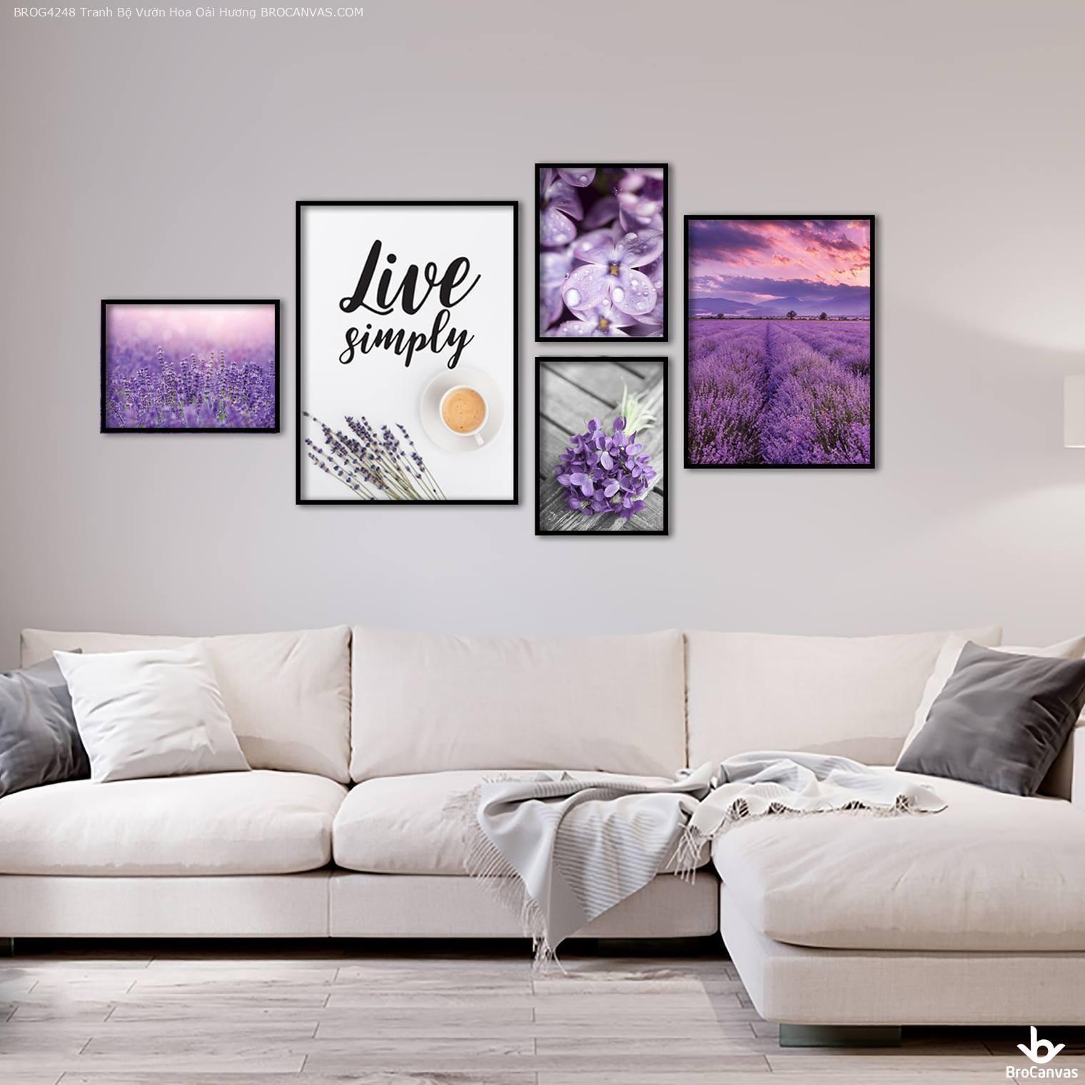 Tranh vườn hoa oải hương