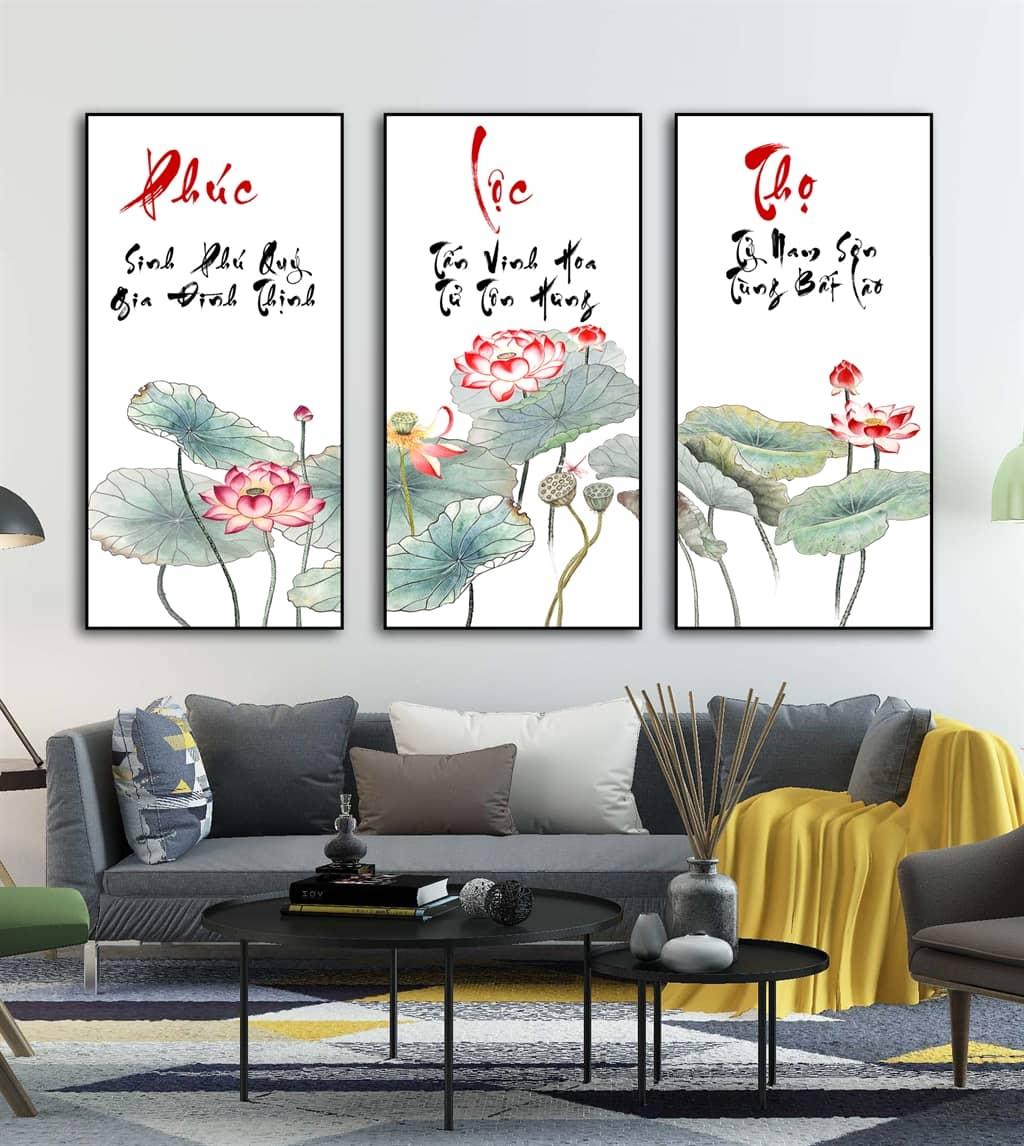Bức tranh hoa sen phù hợp với gia chủ tuổi Mão