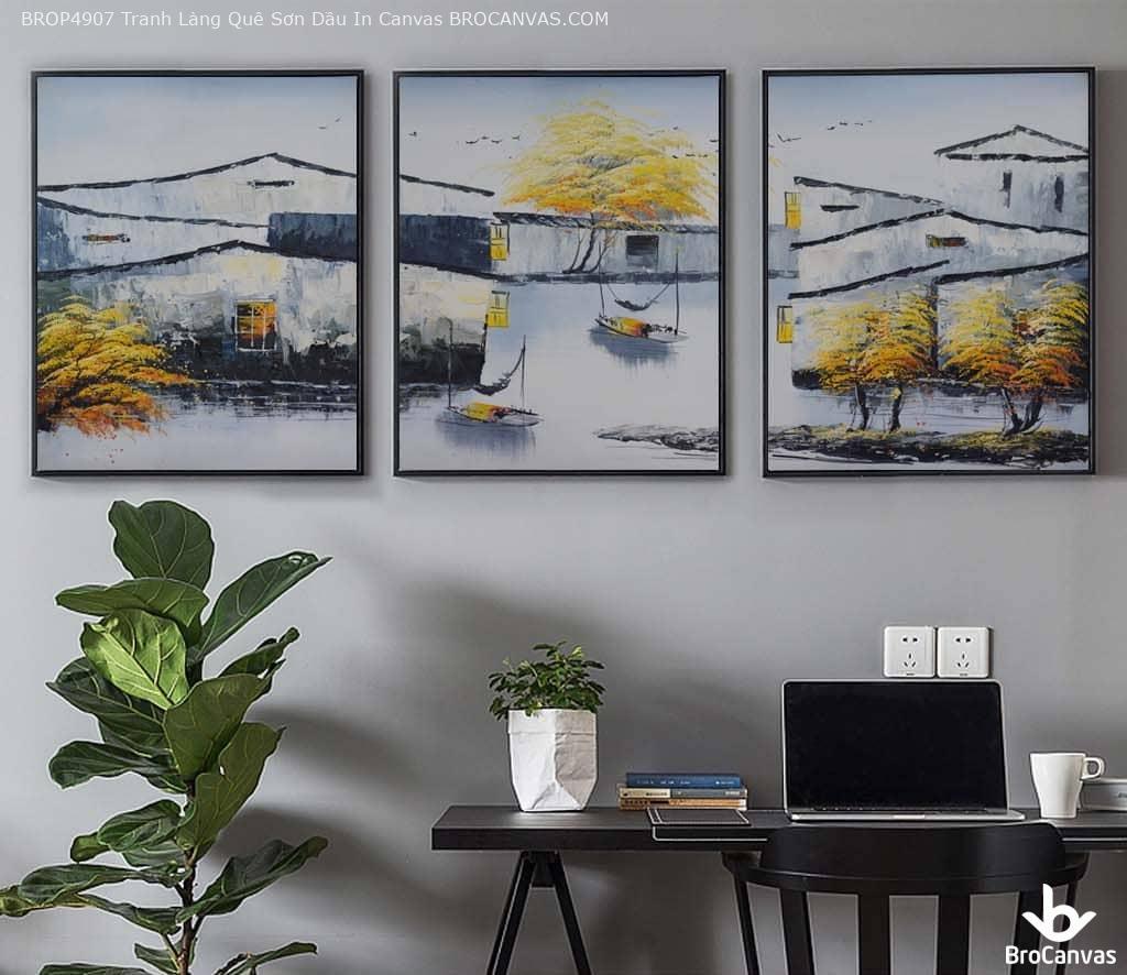 Lựa chọn khung tranh có kích thước phù hợp với không gian căn phòng.