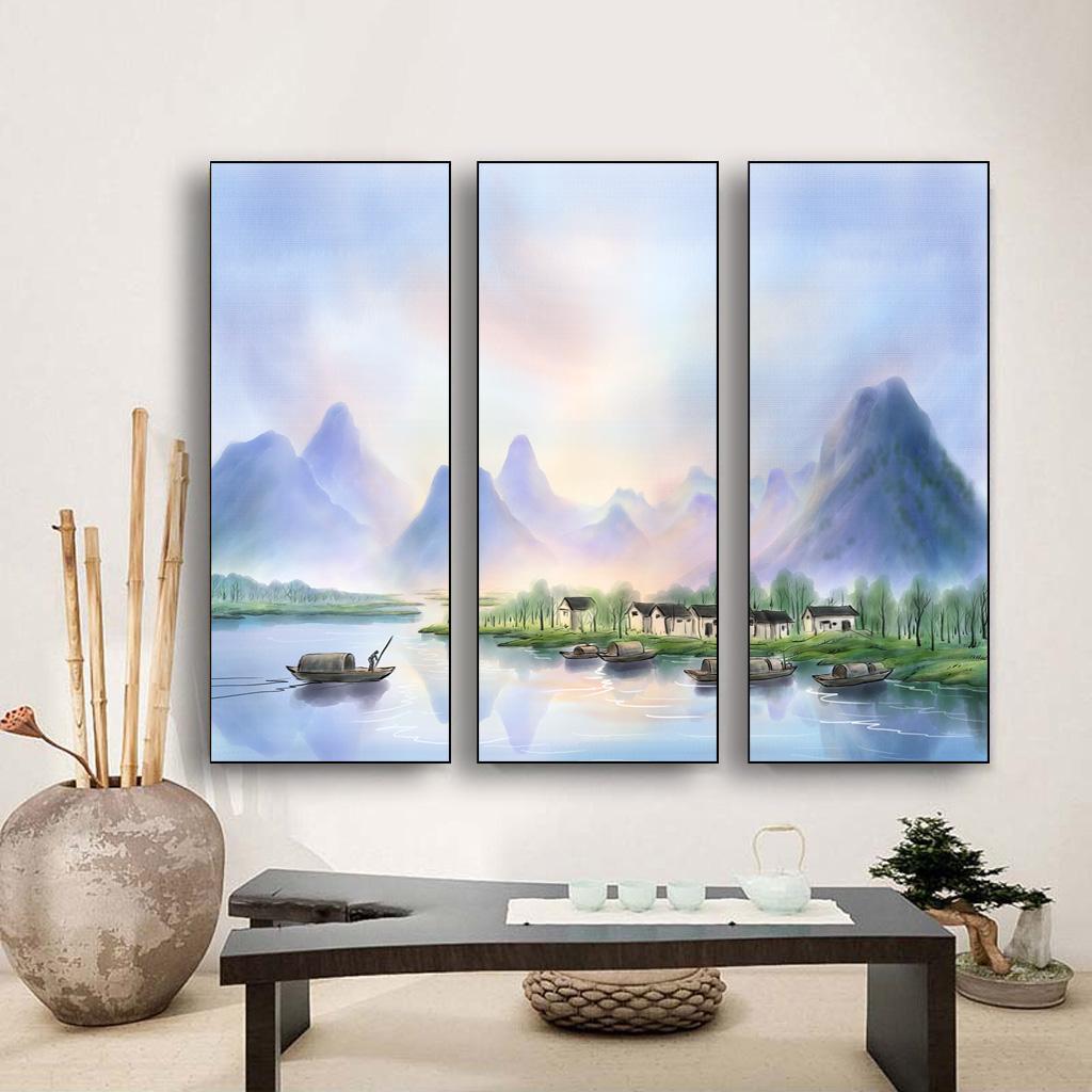Tranh được làm từ chất liệu vải canvas cao cấp