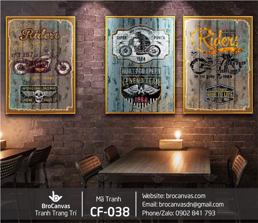 Tranh Trang Trí Decor Quán Cà Phê Đẹp CF-038 | Brocanvas.com