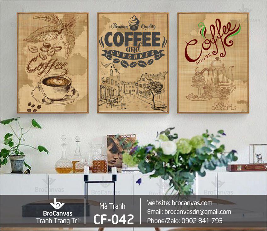 Tranh typography dành cho quán cafe