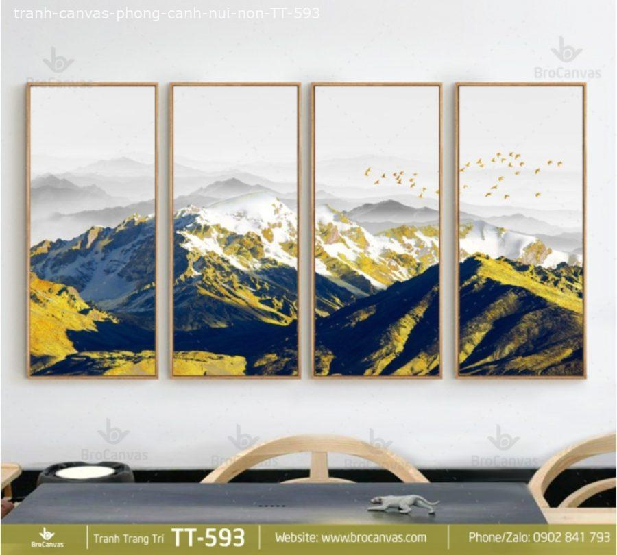 Tranh Canvas Phong Cảnh Núi Non TT 593 | Brocanvas.com