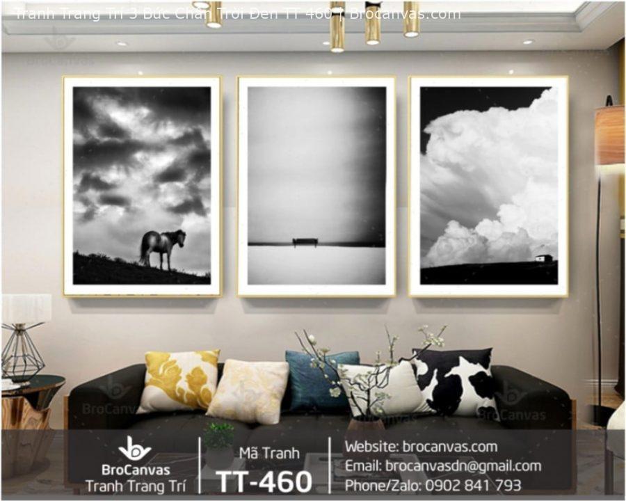 Tranh Trang Trí 3 Bức Chân Trời Đen TT 460 | Brocanvas.com