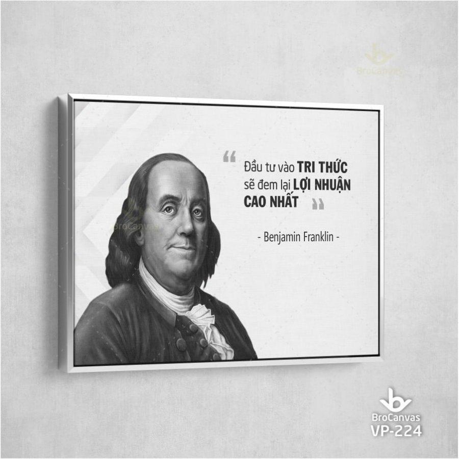 tranh trang trí slogan đầu tư vào tri thức.