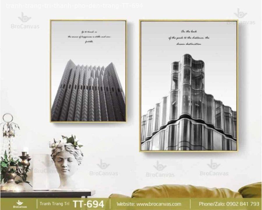 Tranh Trang Trí Thành Phố Đen Trắng TT 694 | Brocanvas.com