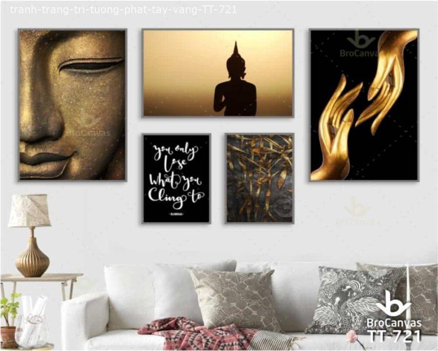 Tranh Trang Trí Tượng Phật Tay Vàng TT 721 | Brocanvas.com